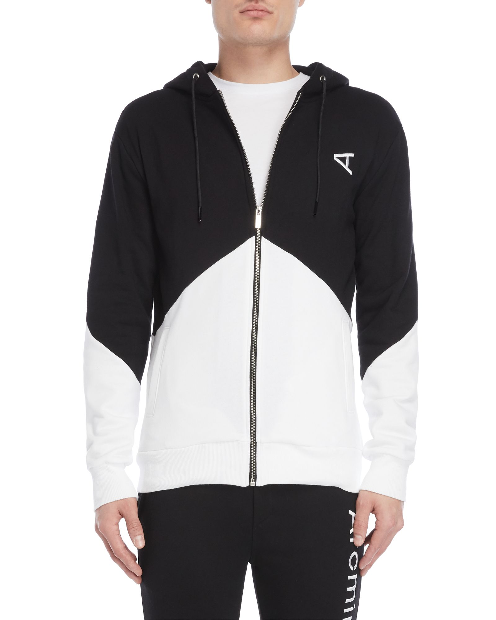 12db33e7e Color Block Zip-Up Hoodie | *Apparel & Accessories* | Hooded jacket ...