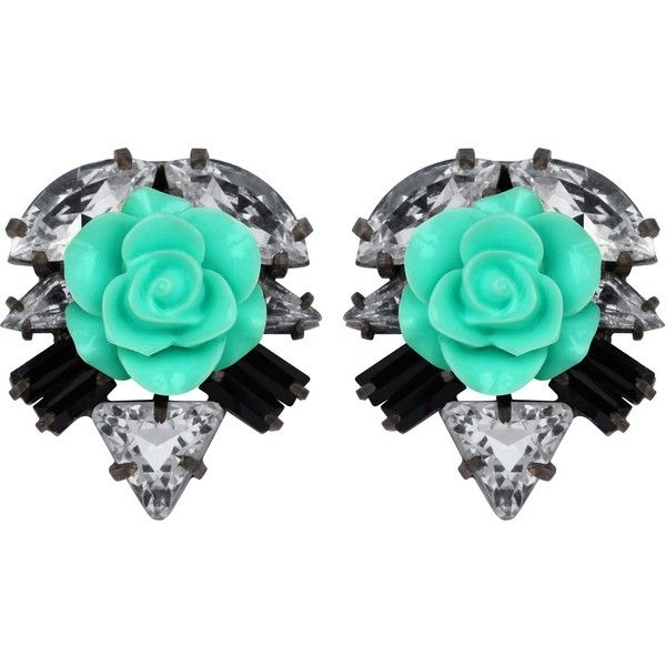 Darya London Ricca Earrings (€100) ❤ liked on Polyvore featuring jewelry, earrings, rose jewelry, brass jewelry, brass earrings, handcrafted jewelry and hand crafted jewelry