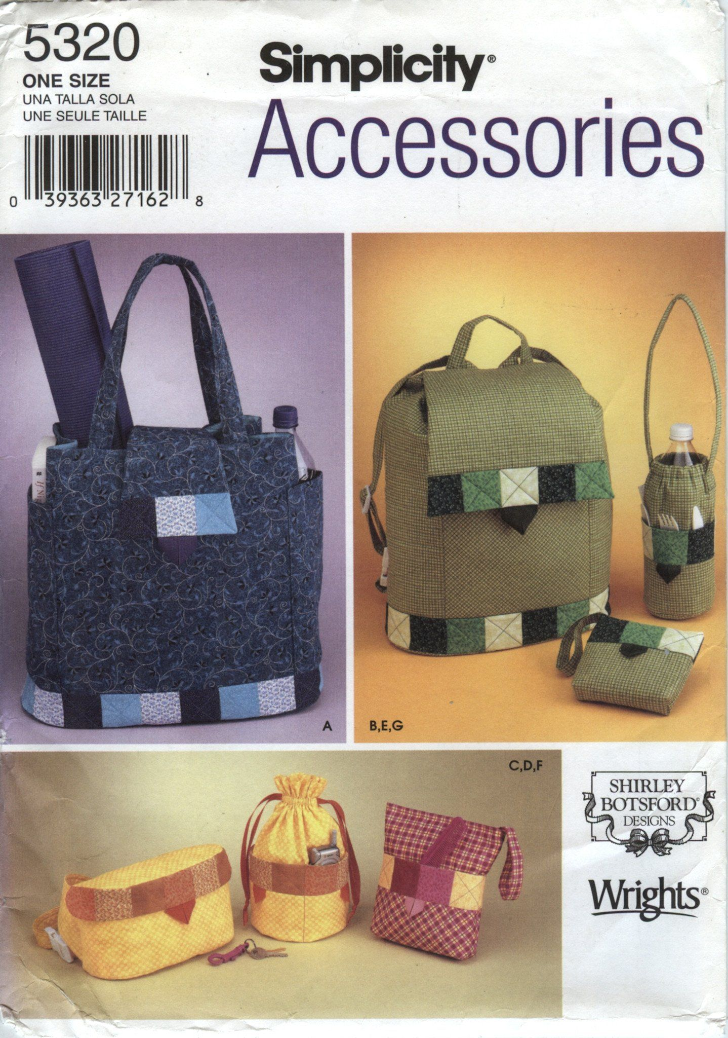 ... free shipping 10cb1 a8779 Simplicity 5320 Handbags, Back Pack and  Accessories ... 929bef506d