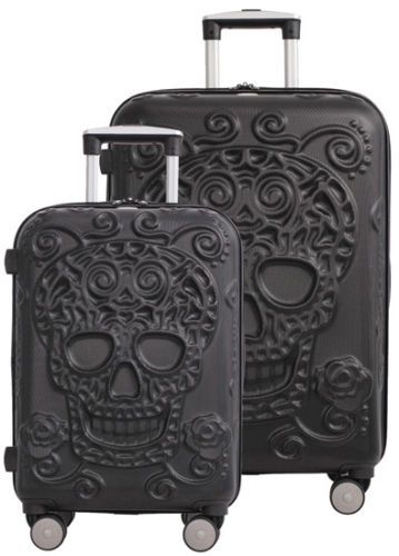 3d12ee6ac0 IT-Luggage-Skulls-2-Piece-Expandable-Upright-Spinner-Set-21-5-034-amp-26-034 -Black
