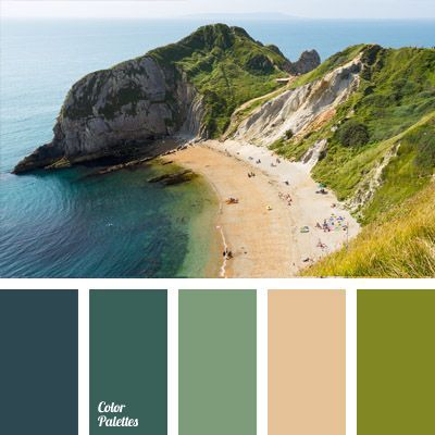blue & green & sand colors