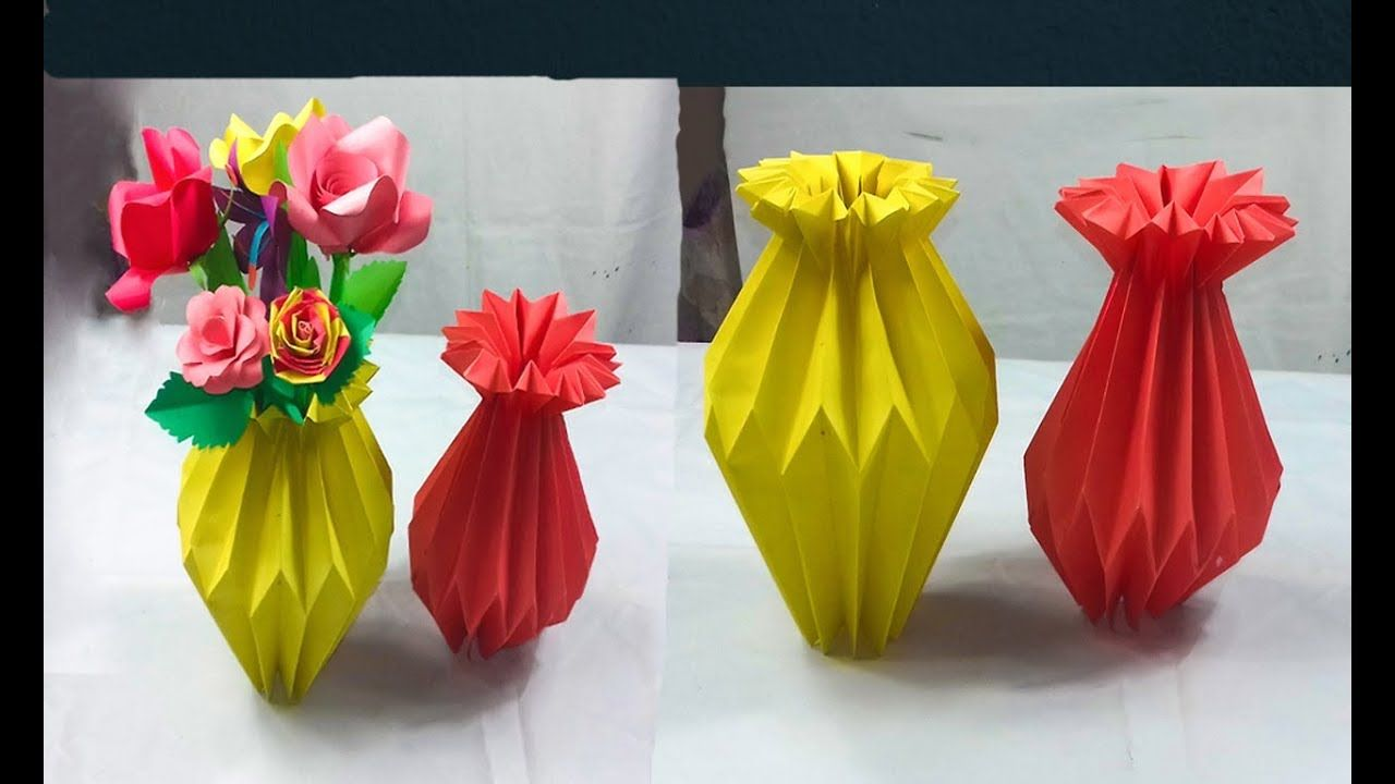 How To Make A Paper Flower Vase - DIY Simple Paper Craft - YouTube ...   720x1280