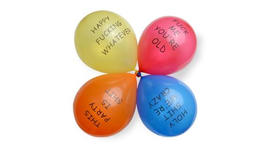 Rude Party Balloons