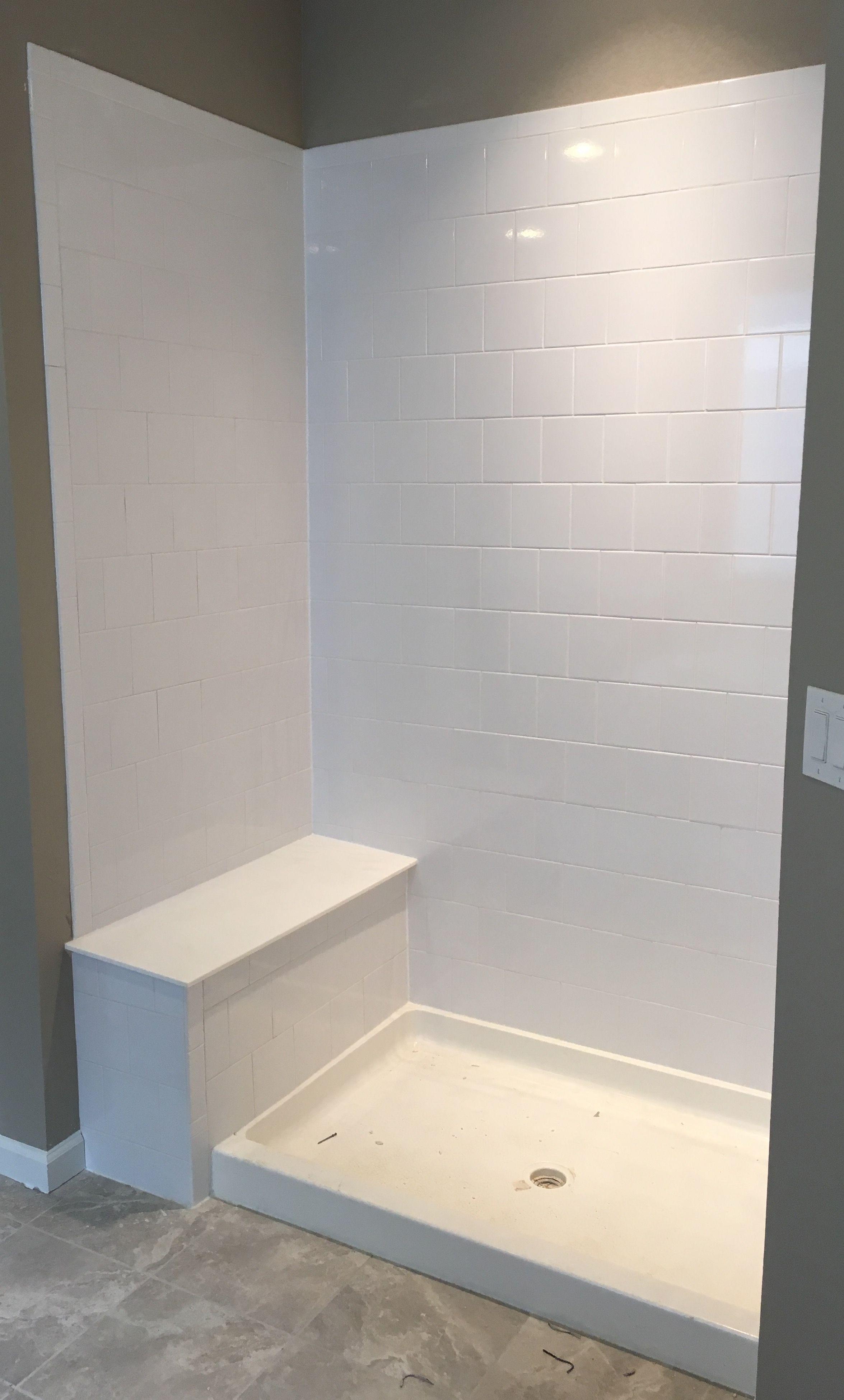Emser Semplice 6x6 Brickset Guest Bedrooms Bath Inspiration Master Bathroom