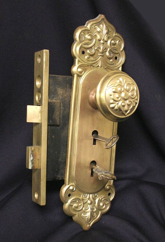 Gorgeous Antique Entry Door Lockset Made By Lockwood Lock Co Of
