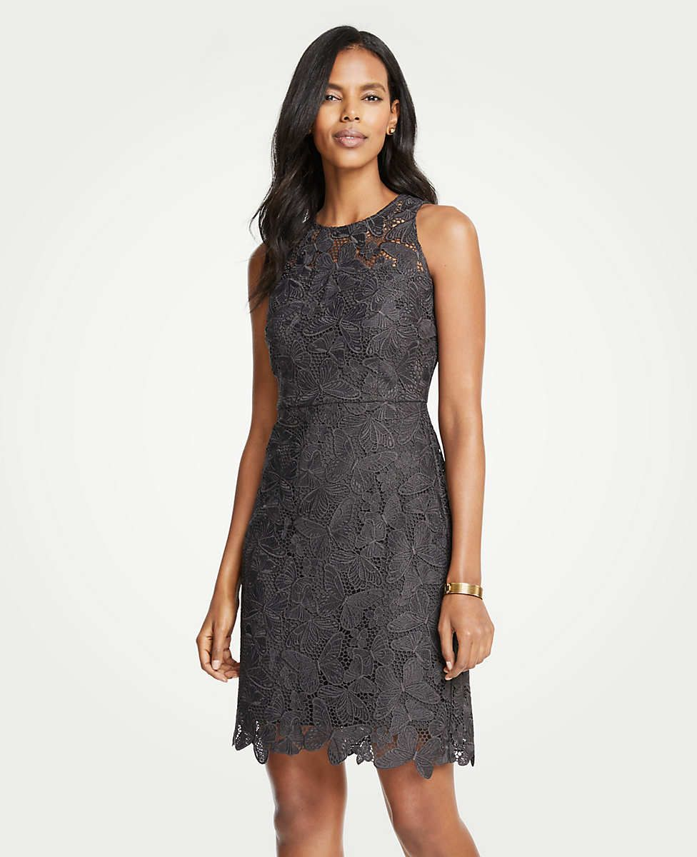 0705055d9d6545 Butterfly Lace Sheath Dress | Ann Taylor | That's What I Want | Lace ...