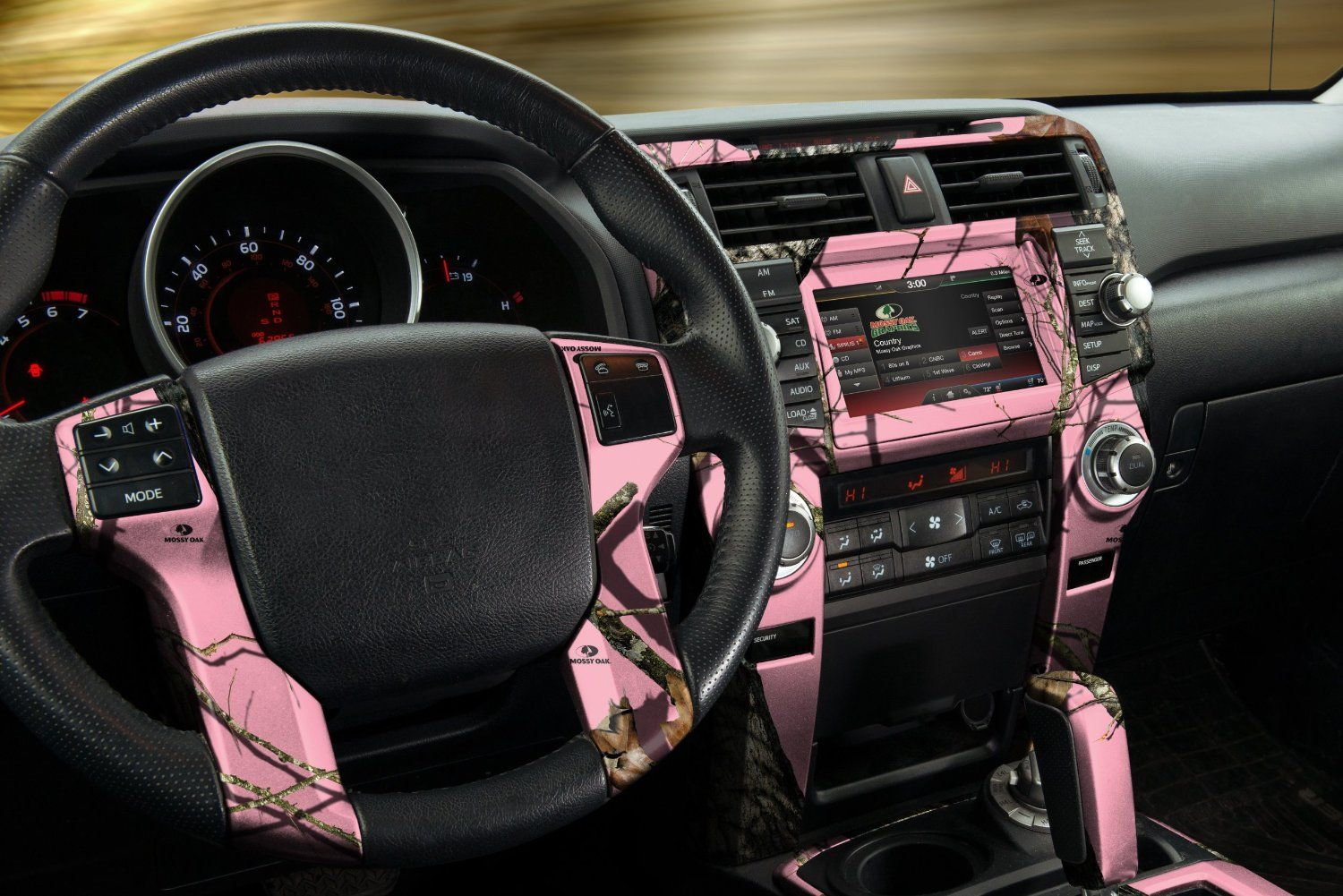Auto Interior Skin   Camo Dash Kit   Break Up Pink   Wife Truck Idea