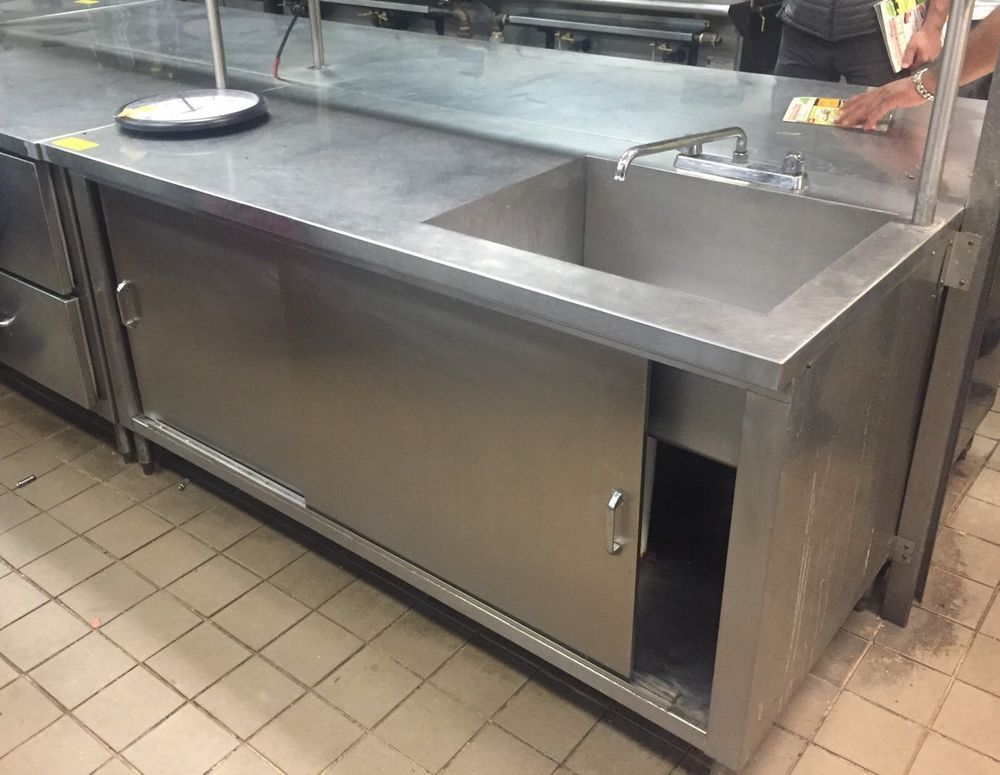 C Ustom Made Stainless Steel Worktop