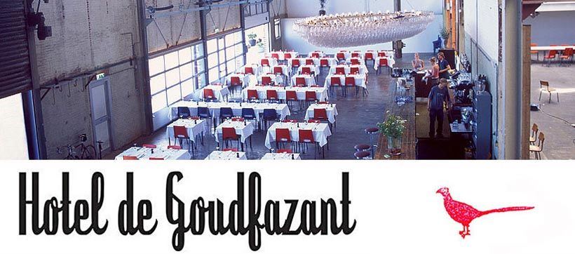 Hotel de Goudfazant. Near the IJ, supposed to have great French food and a lovely view over the water.  #Noord