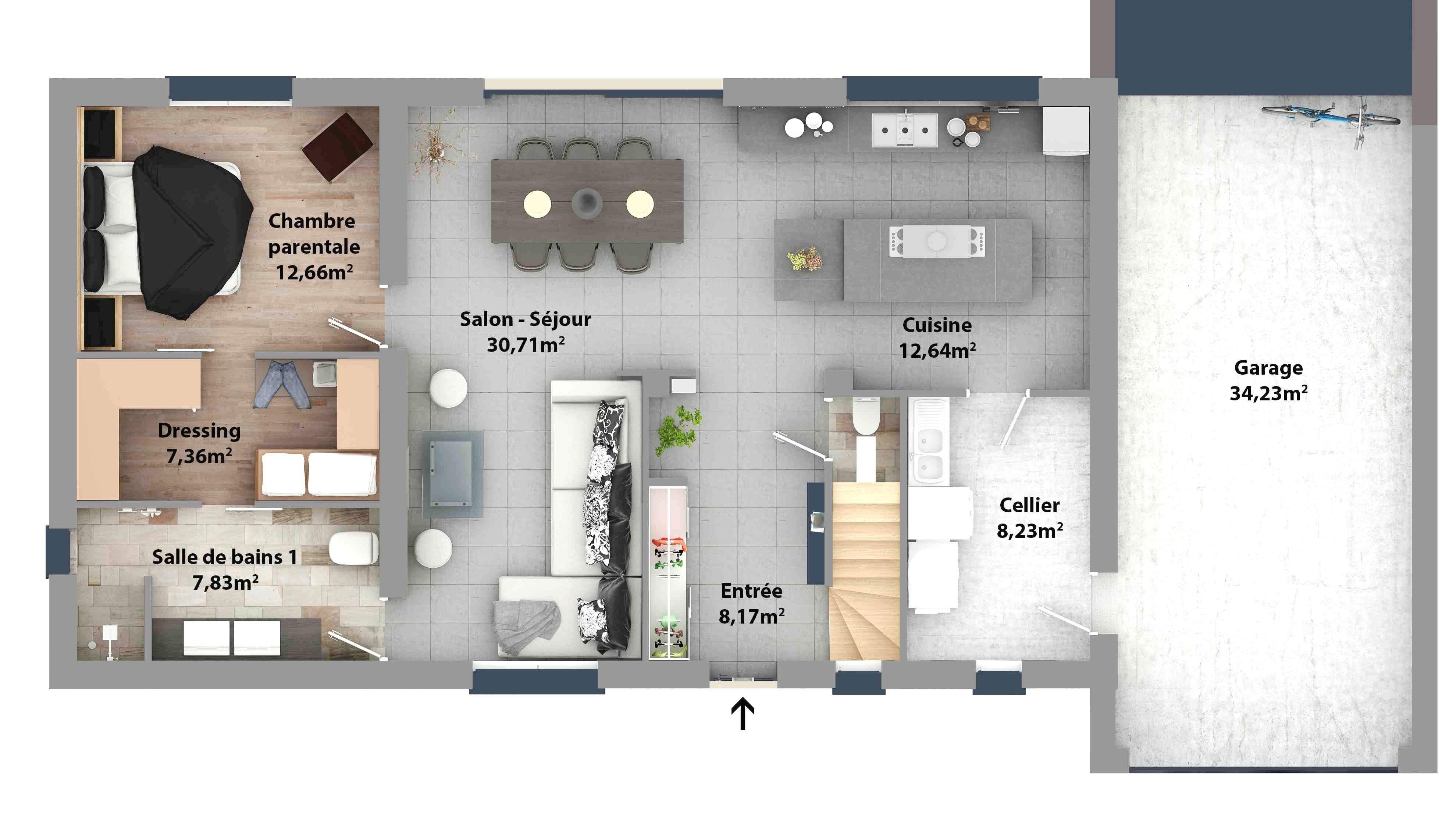 Elegant Suite Parentale Avec Salle De Bain Et Dressing 20m2 ...
