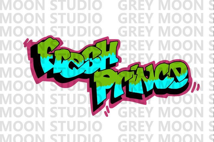 C Fresh Prince 80 S Green And Blue Tv Show Themed Etsy Blue Tv Show Fresh Prince Prince
