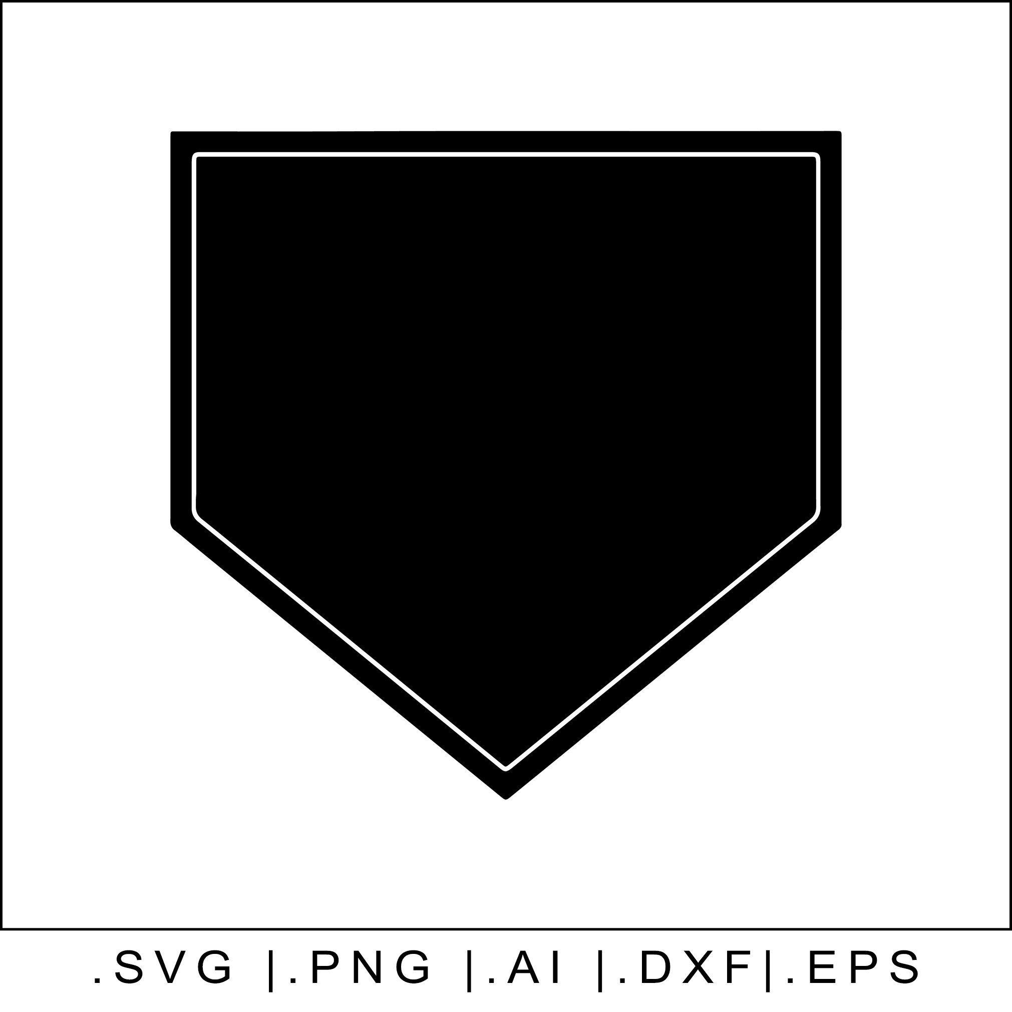 Home Plate Baseball Svg Transparent Outline Mlb Diamond Etsy Home Plate Baseball Baseball Svg Clip Art