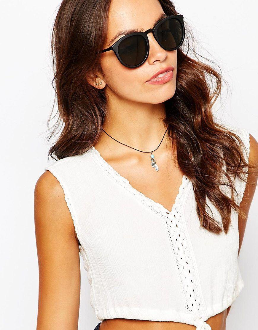 5456681f6 Le Specs No Smirking Round Sunglasses   Sunglasses   Sunglasses ...