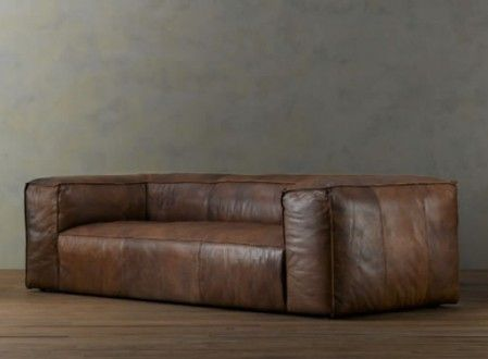 Fulham Leather Seating From Restoration Hardware Relaxed Living Room Decor