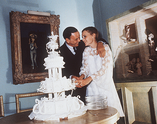 Frank Sinatra And Mia Farrow On Their Wedding Day 1966