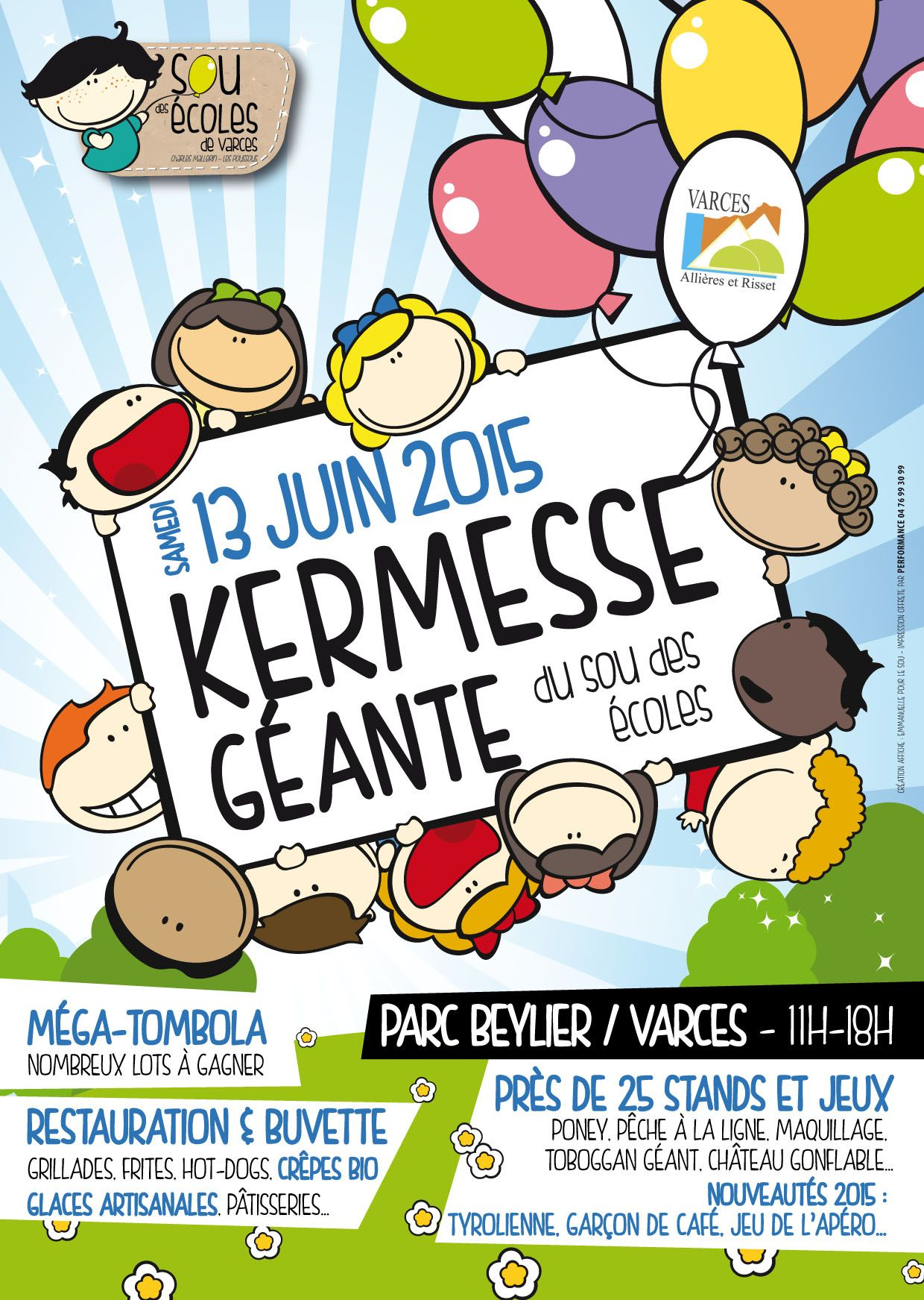 Affiche de la kermesse 2015 yard sale school parties design et graphic design - Kermesse dessin ...