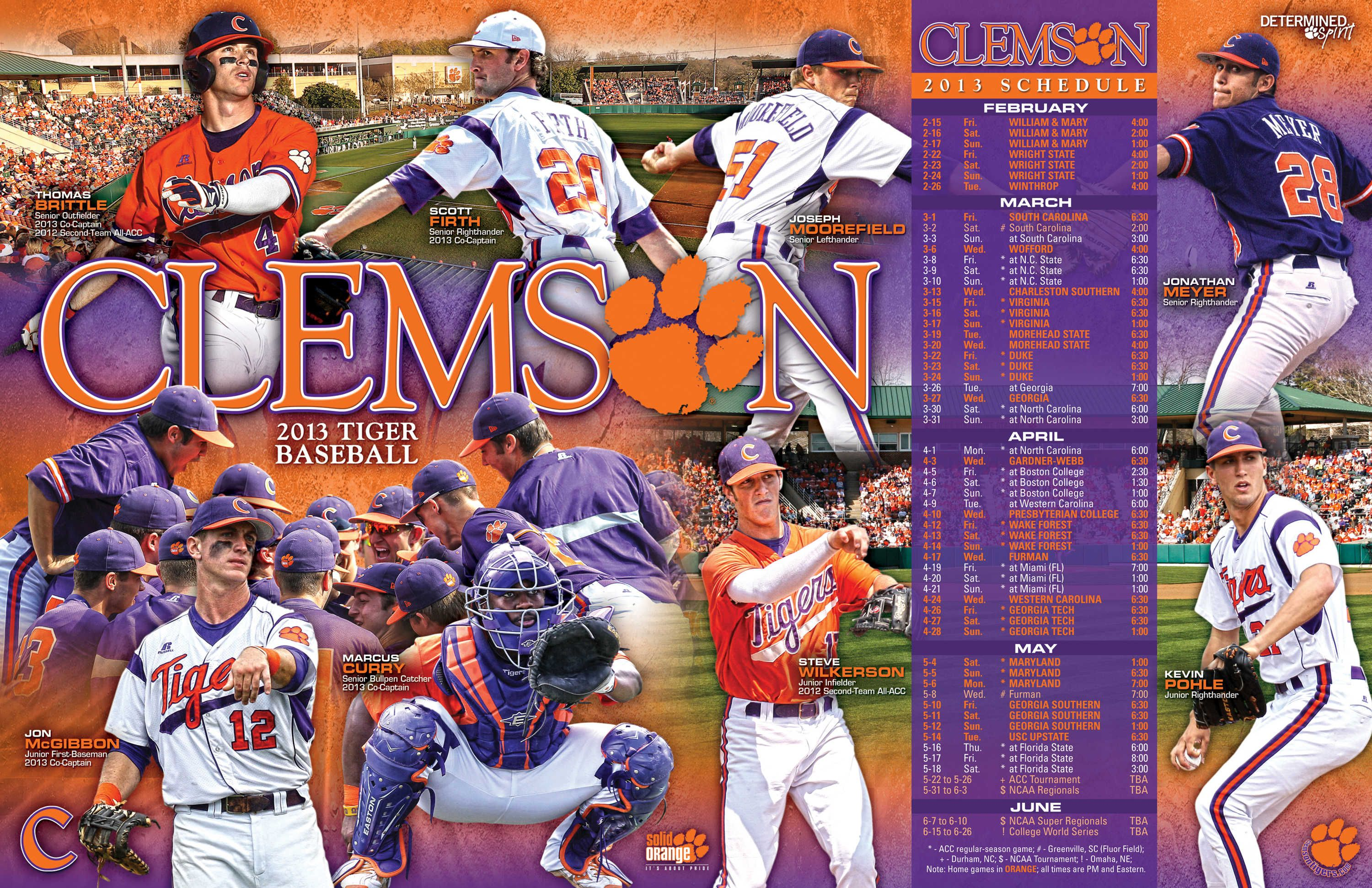 Look Out For Your Tigers On The Diamond Game Schedule For The 2013 Season Baseball Posters College Sports Fun Sports