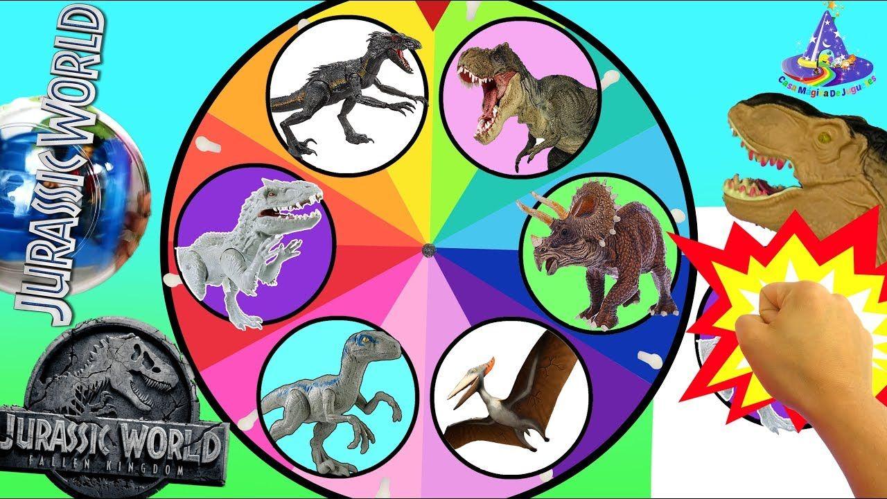 Juego de Ruleta Sorpresa de Dinosaurios de Jurassic World 2 El Reino ...
