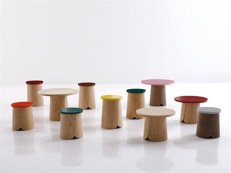 Sgabello in legno tab collezione natural by sancal diseÑo design