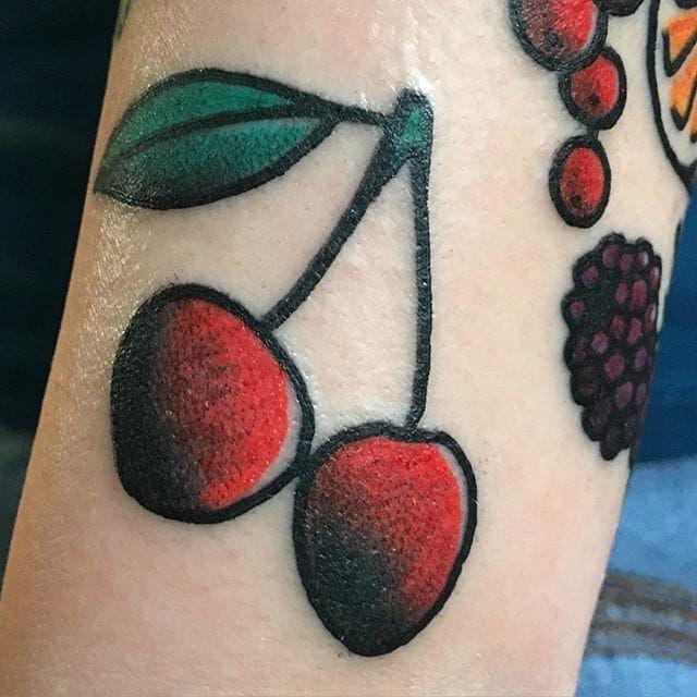 Cherry tattoo by adri o cherry fruit sweet traditional adrio cherry tattoo by adri o urmus Gallery