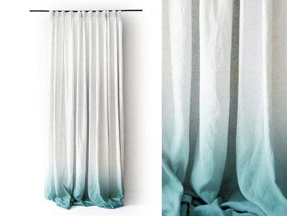 Linen Shirt For Women Loose Fit Women S Shirt Short Etsy Ombre Curtains White Linen Curtains Curtains