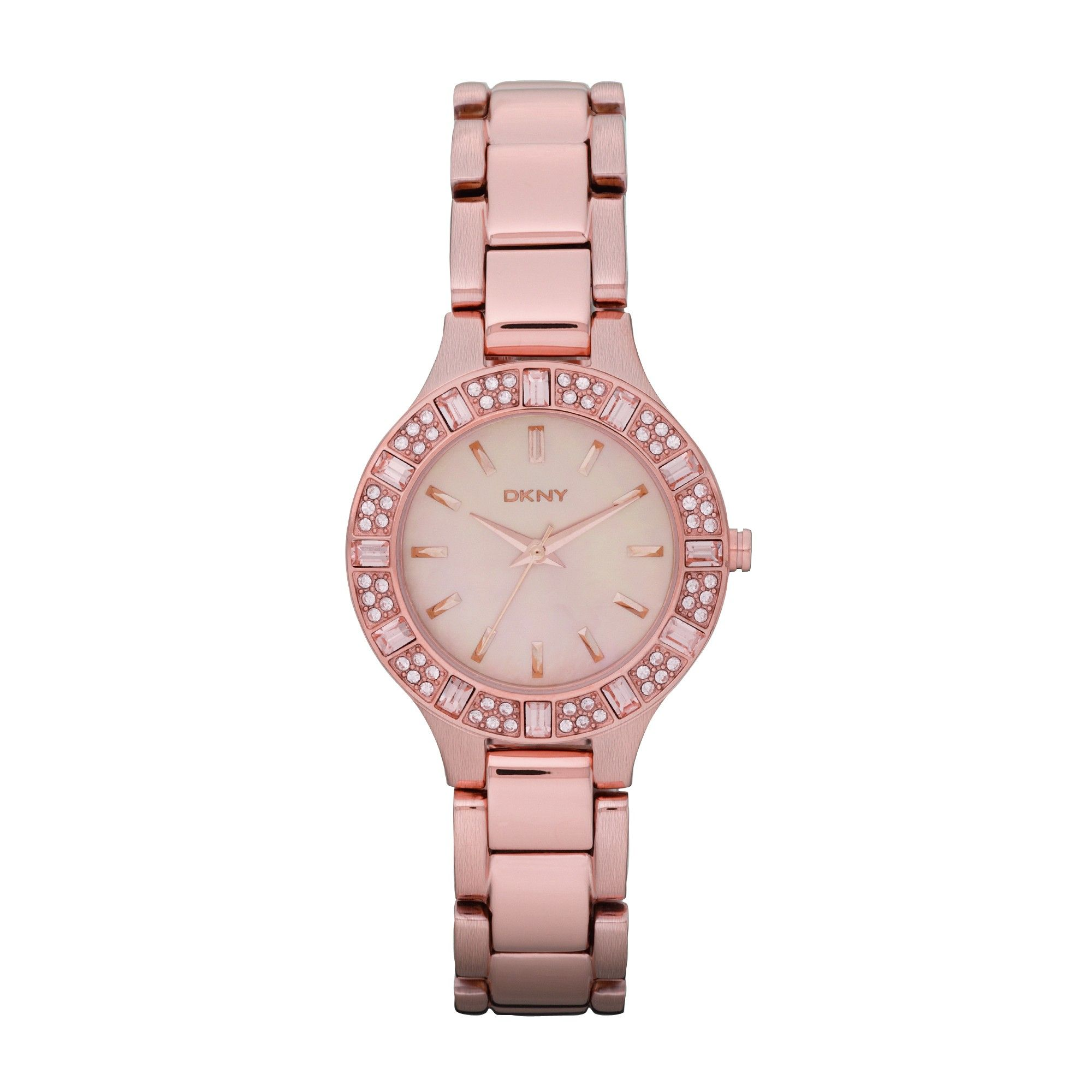 DKNY Chambers Glitz ladies\' rose gold-plated bracelet watch | Gifts ...