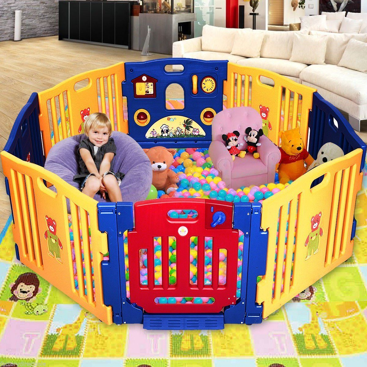 Baby Play Area Giantex 8 Panel Play Center Safety Yard Pen Baby Kids Playpen
