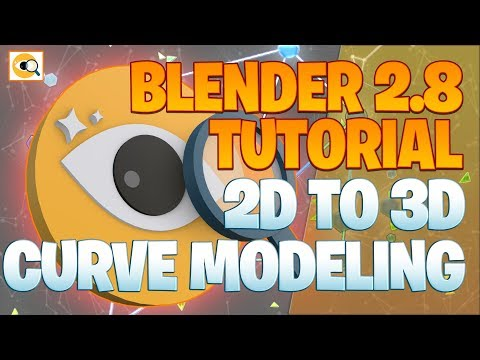 14 Daily 2d To 3d Curve Modeling Part 1 Blender 2 8 Tutorial Youtube Blender Tutorial Tutorial Blender
