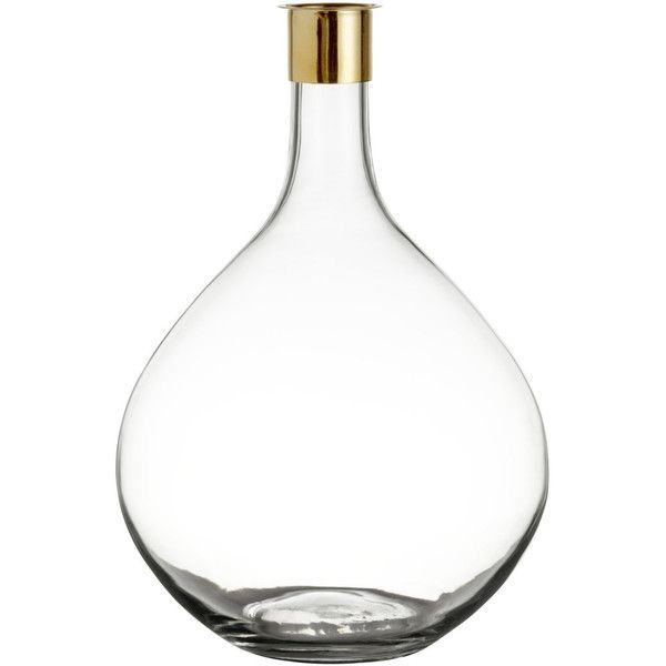 Hm Large Glass Vase 14 Liked On Polyvore Featuring Home Home
