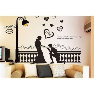 Romantic Propose Wall Decals Wall Stickers Romantic Romantic
