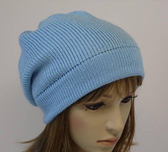 Light blue beanie hat slouchy beanie winter beanie fall 9591870cf07