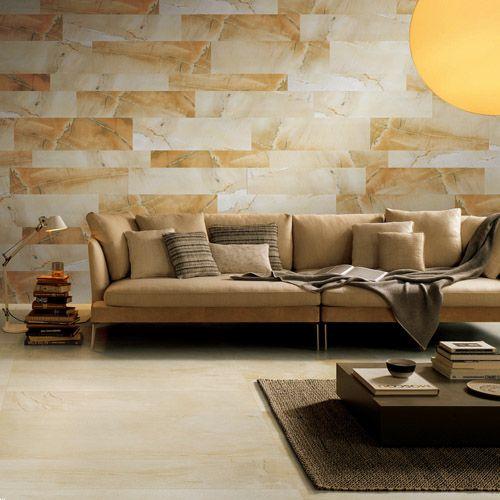 Pin On Sandstone Effect Tiles Wall tiles for living room