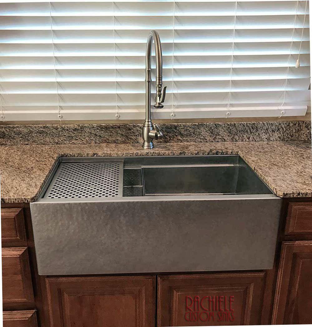 Hammered Stainless Steel Farmhouse Kitchen Sink Kitchen Sink Design Copper Kitchen Sink Apron Front Kitchen Sink