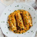 Ricos canelones rellenos de espinacas  #food #foodie #recetas #recipes #saludable #veggy #vegetariano #verduras #pasta