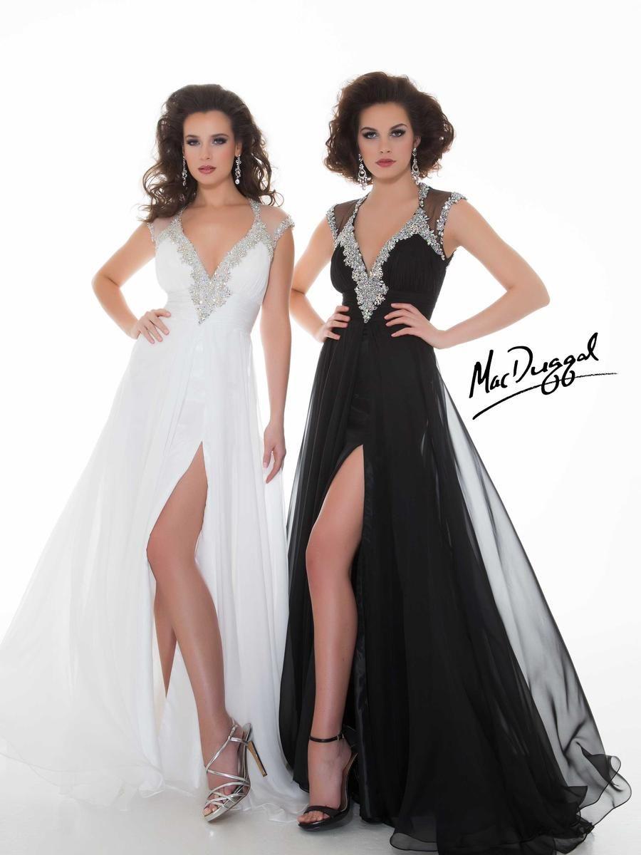 Homecoming dresses mac duggal royalty y long chiffon formal
