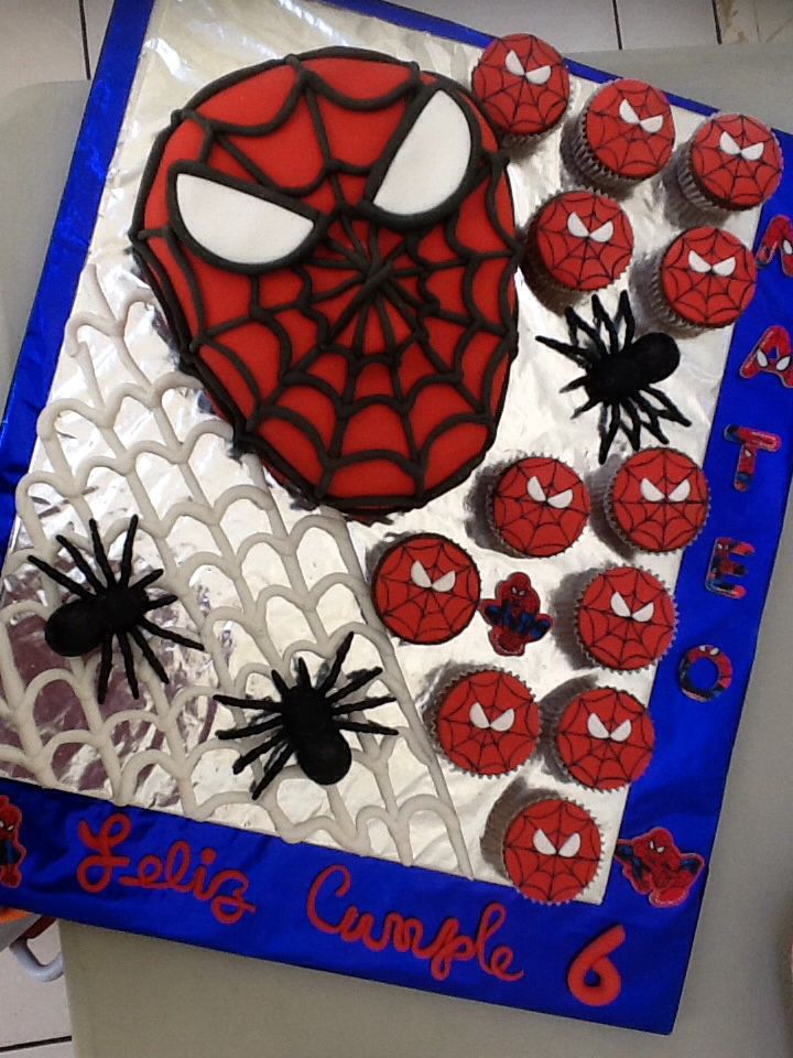Spider-Man Birthday cake for my grandson Mateo Salgado Sologuren, Nov/2013.