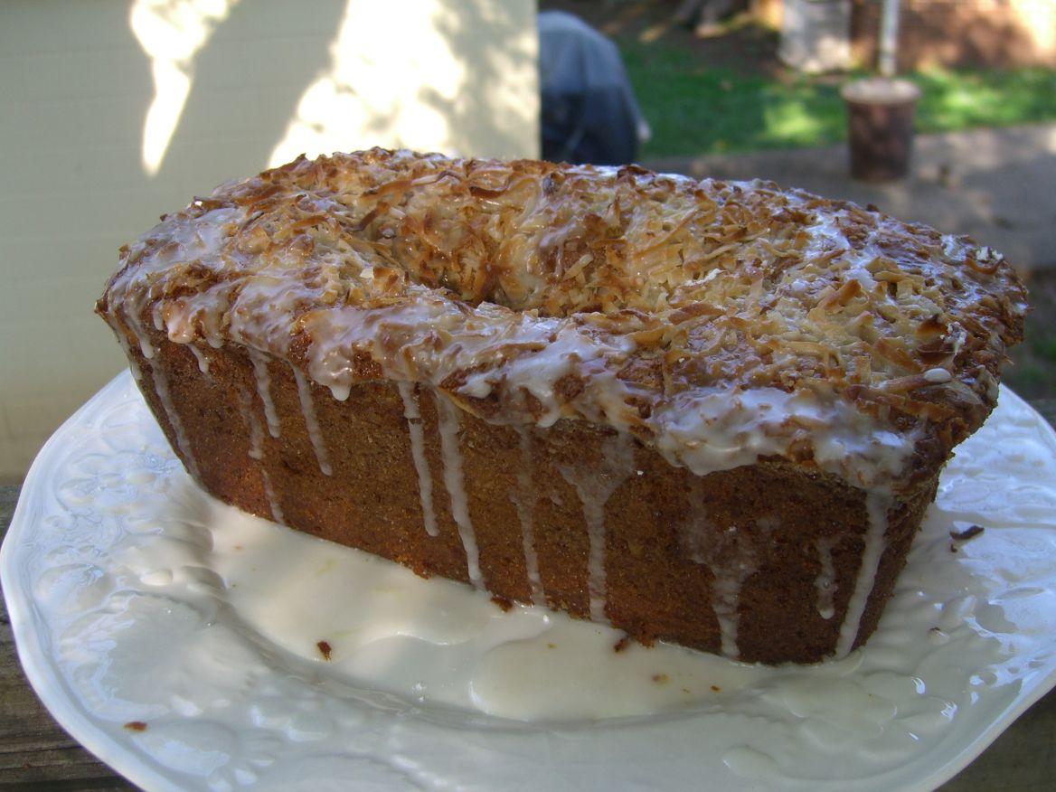Coconut Banana Bread with Lime Glaze (Gluten Free