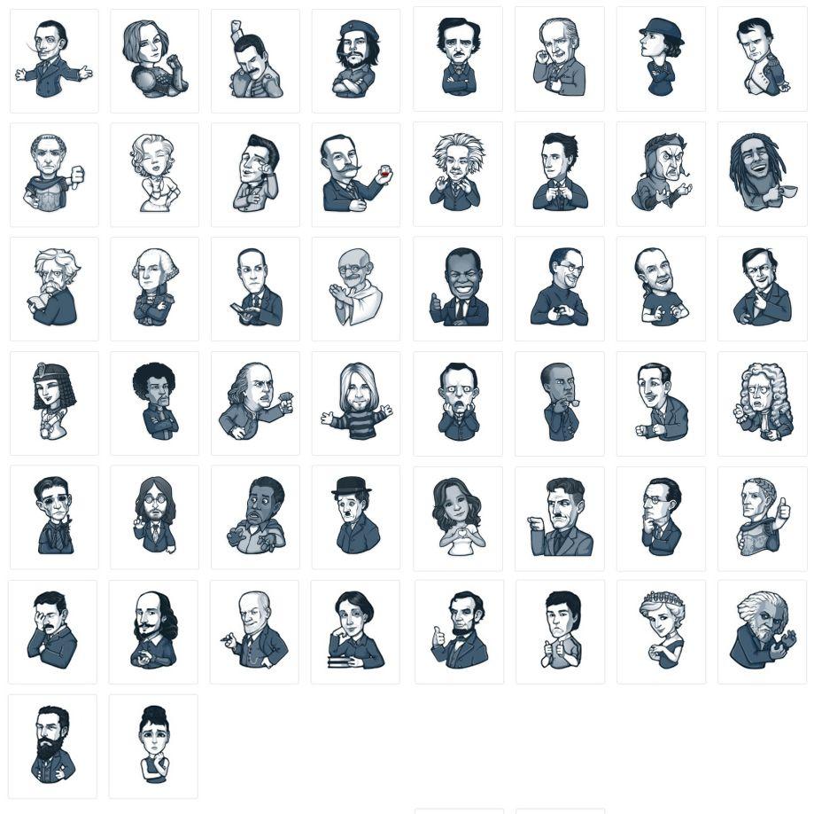 Quién es quién en los stickers de Telegram?   Stickers