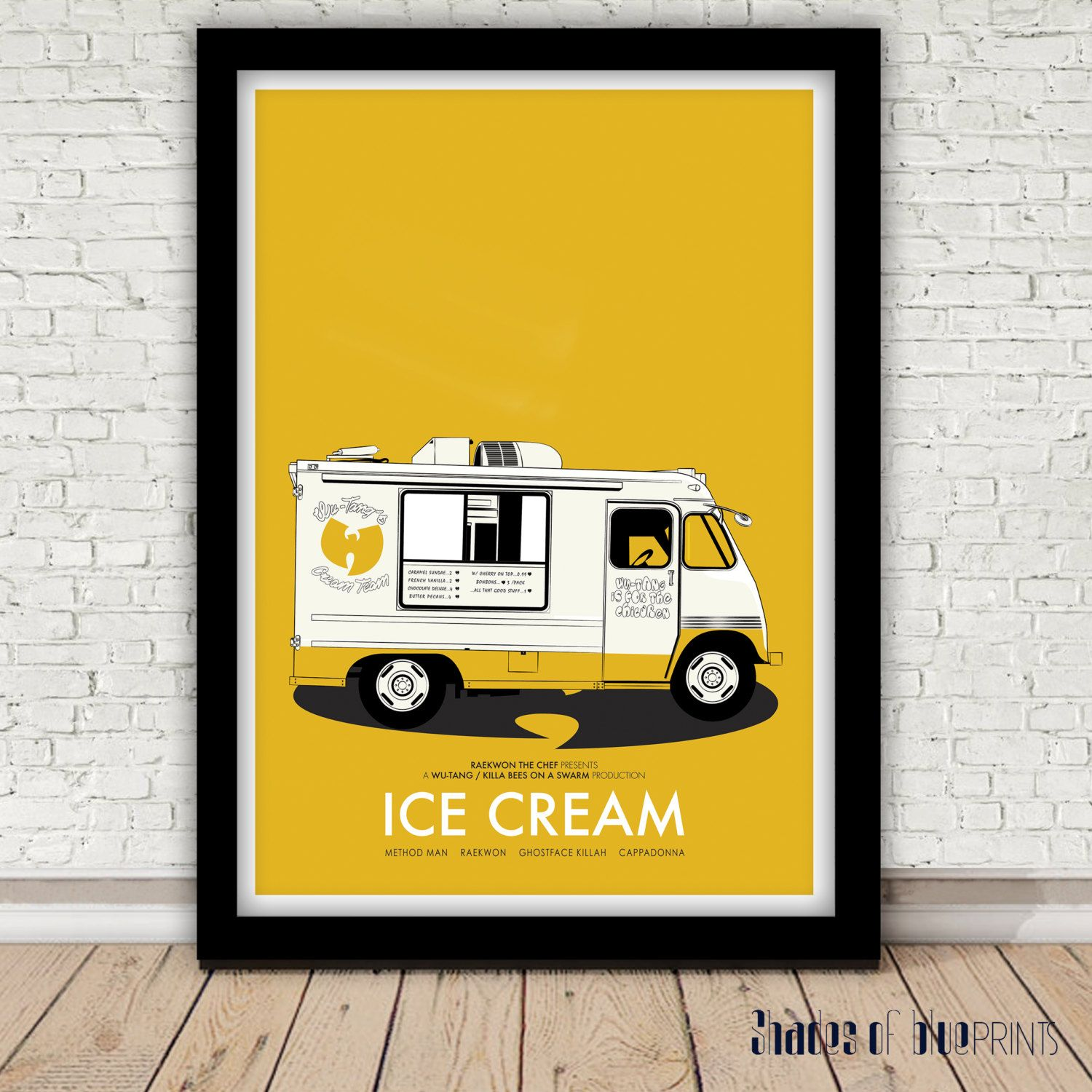 Raekwon of the Wu-Tang Clan Ice Cream poster 1995 | wall art ...