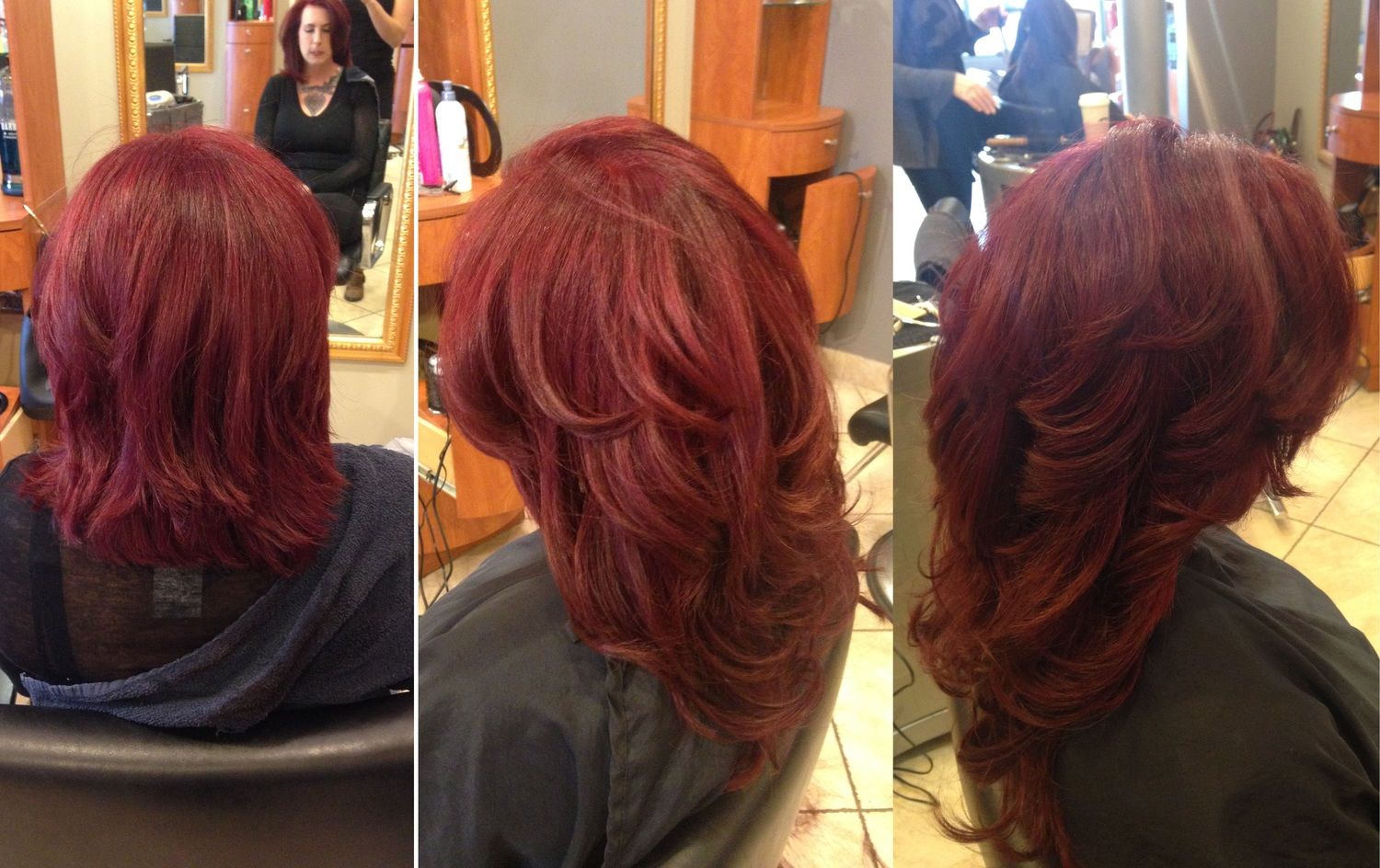 Before And After Extensions Our Work Only At Salon Belladonna
