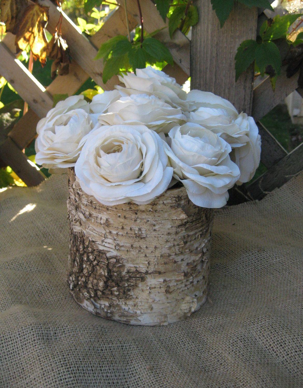 Birch Bark Vase Rustic for Your Wedding Centerpieces ... - photo#30