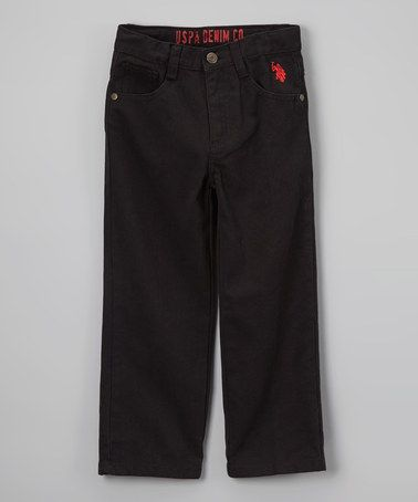 This Black Pants - Toddler & Boys is perfect! #zulilyfinds