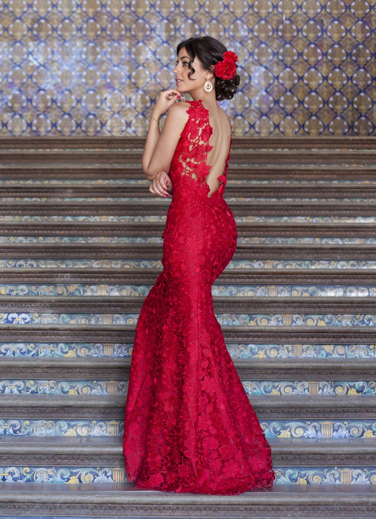 Red dress for wedding reception  MG copia  vestidos de mujer  Pinterest  Flamenco Classy