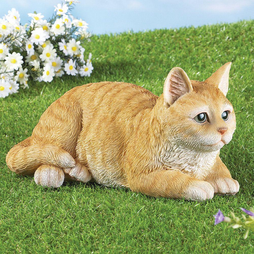 Pretty Tabby Cat Garden Statue | Discount Home Decor | Pinterest ...