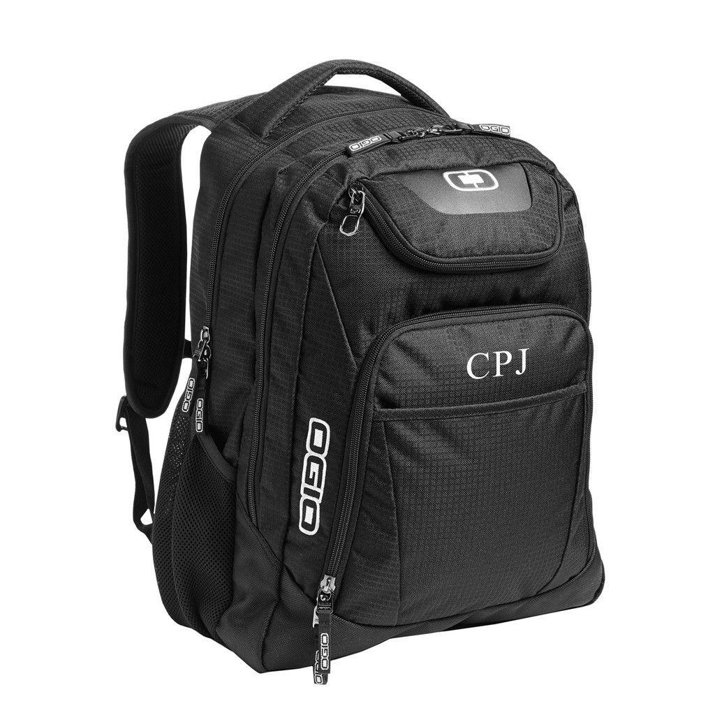 Personalized Black Ogio Excelsior Back Pack Business