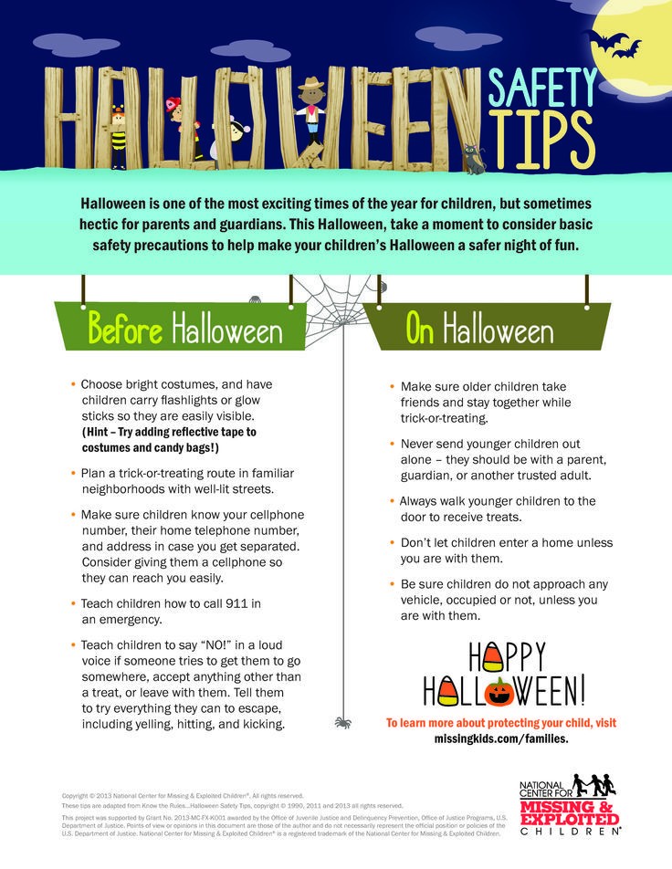 October bulletin board Halloween safety tips