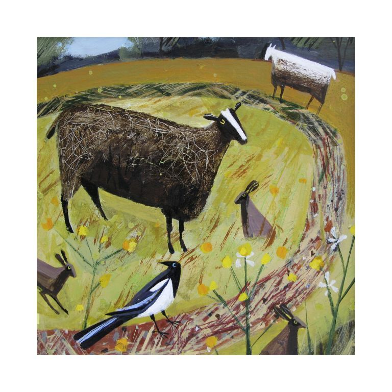 -Magpie Field -limited edition of 45- signed giclee prints- mounted size 64x66cms £325 - Mary Sumner
