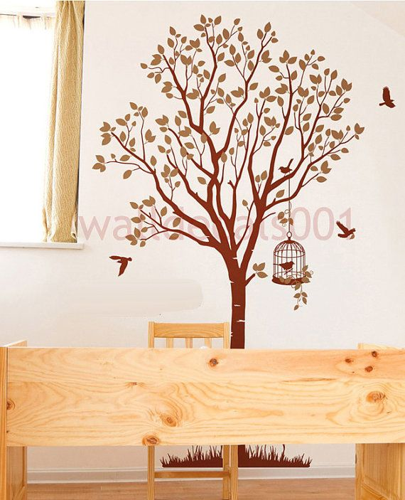 Vinyl Wall Decal Sticker Wall Decorlovely Tree By Walldecals001