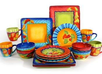 Mexican Dinnerware Sets | laurie-gates-baja-sizzle-dinnerware-set_cool-