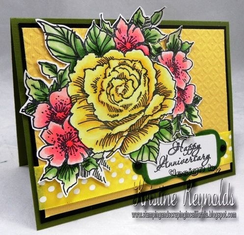 images stampendous rose cluster | has made an incredible Rose Cluster Anniversary card for #Stampendous ...